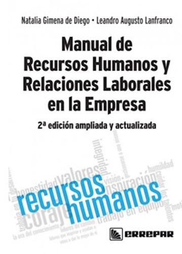 Manual De Recursos Humanos Y Relaciones Laborales En La Empresa De Diego Natalia Gimena